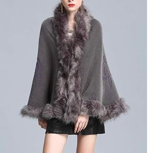 Fur Wrap Sweater Cape
